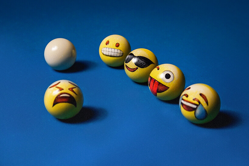 poolmoji,emoji-painted billiard balls,emoji