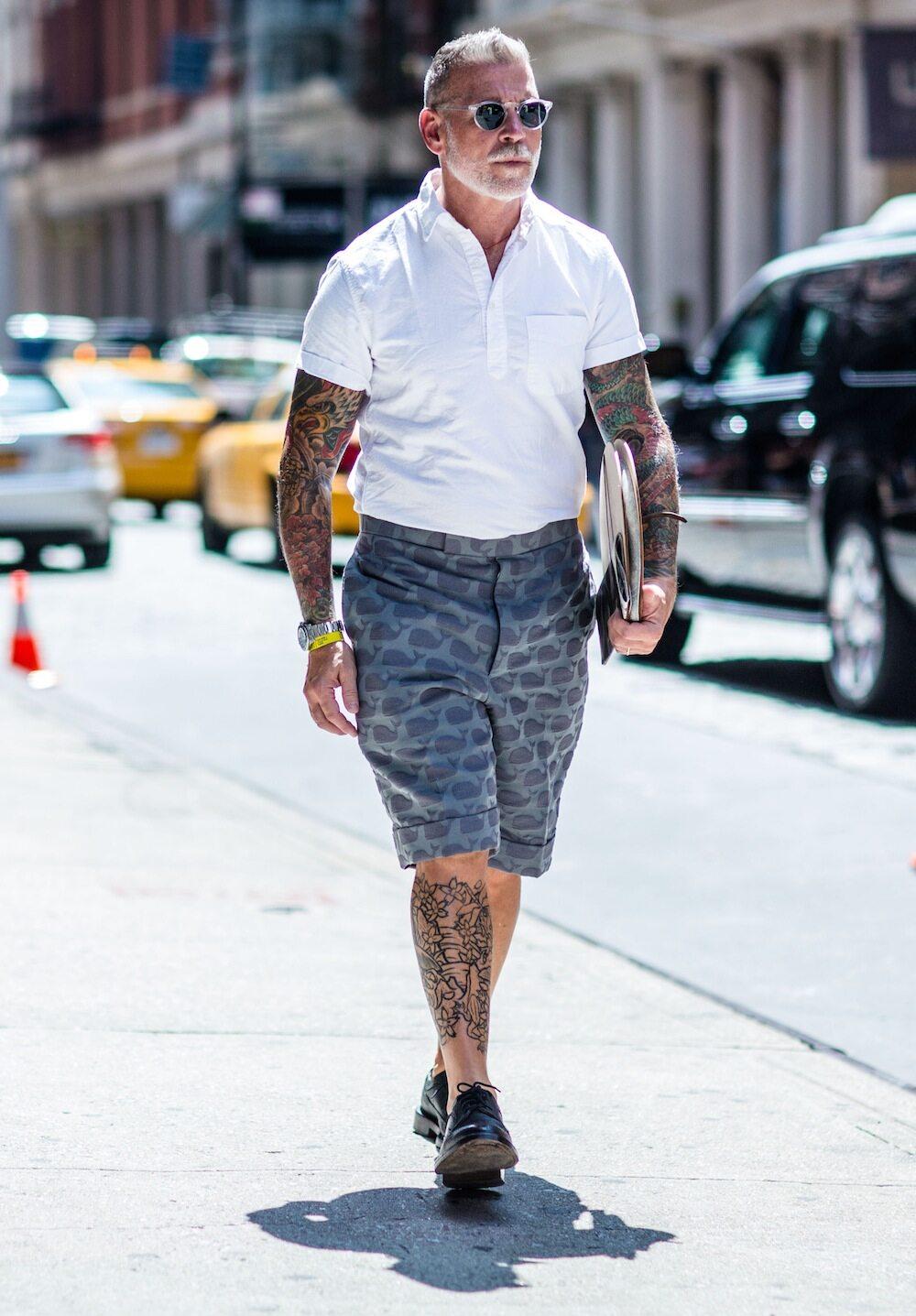 Nick Wooster 型格示範有型又涼爽短褲造型